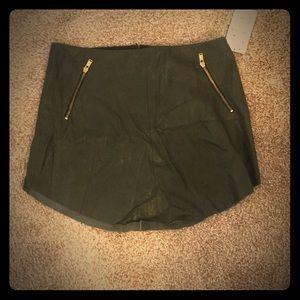 Zara Green leather skirt size L